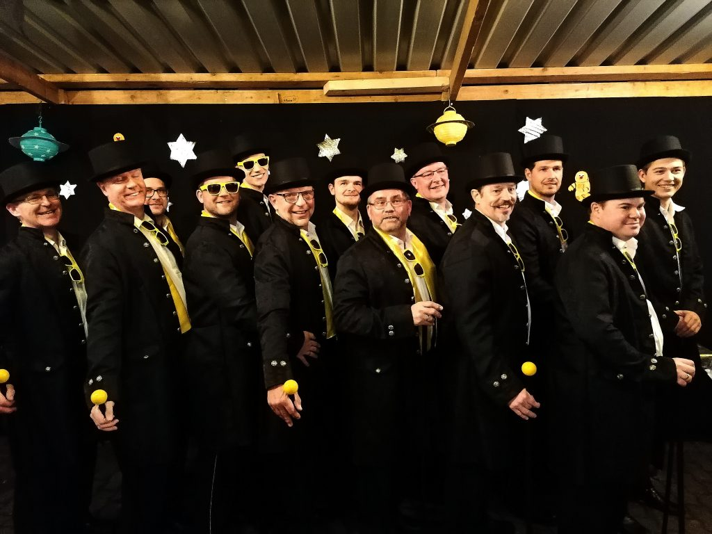 Das Männerballett des AKV Vallis Comitis Asperden